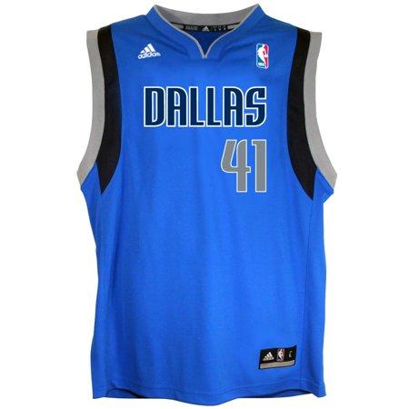 Dallas Mavericks NBA Dirk Nowitzki #41 Youth Alternate Replica Jersey (Navy) by
