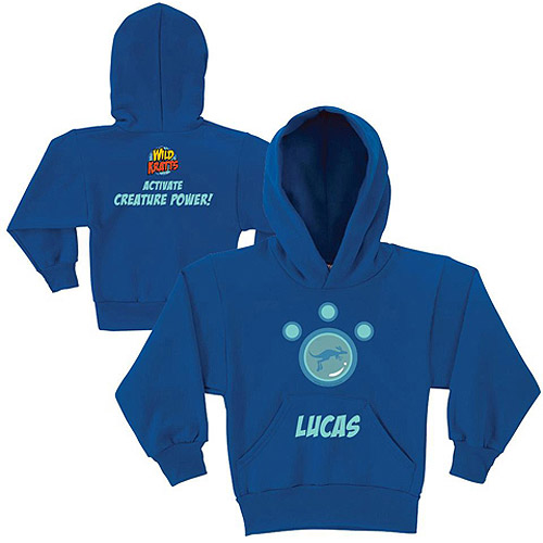 Personalized Wild Kratts Kangaroo Power Boys' Blue Hoodie