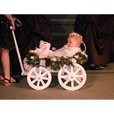 small flower girl pumpkin wagon - gloss white