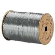 Deluxe Small Business Sales 263-2-7 0.25 in. x 100 yds. Pearlized Wraphia Ribbon, Silver