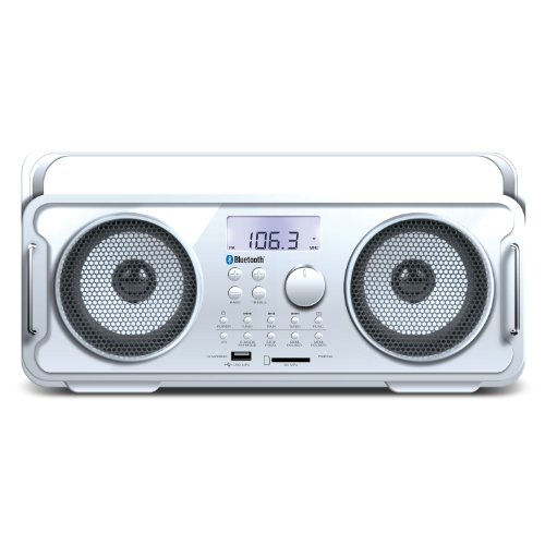 i.Sound BT-4000 2.0 Speaker System - 5 W RMS - Portable - Battery Rechargeable - Wireless Speaker[s] - White (isound-6263)