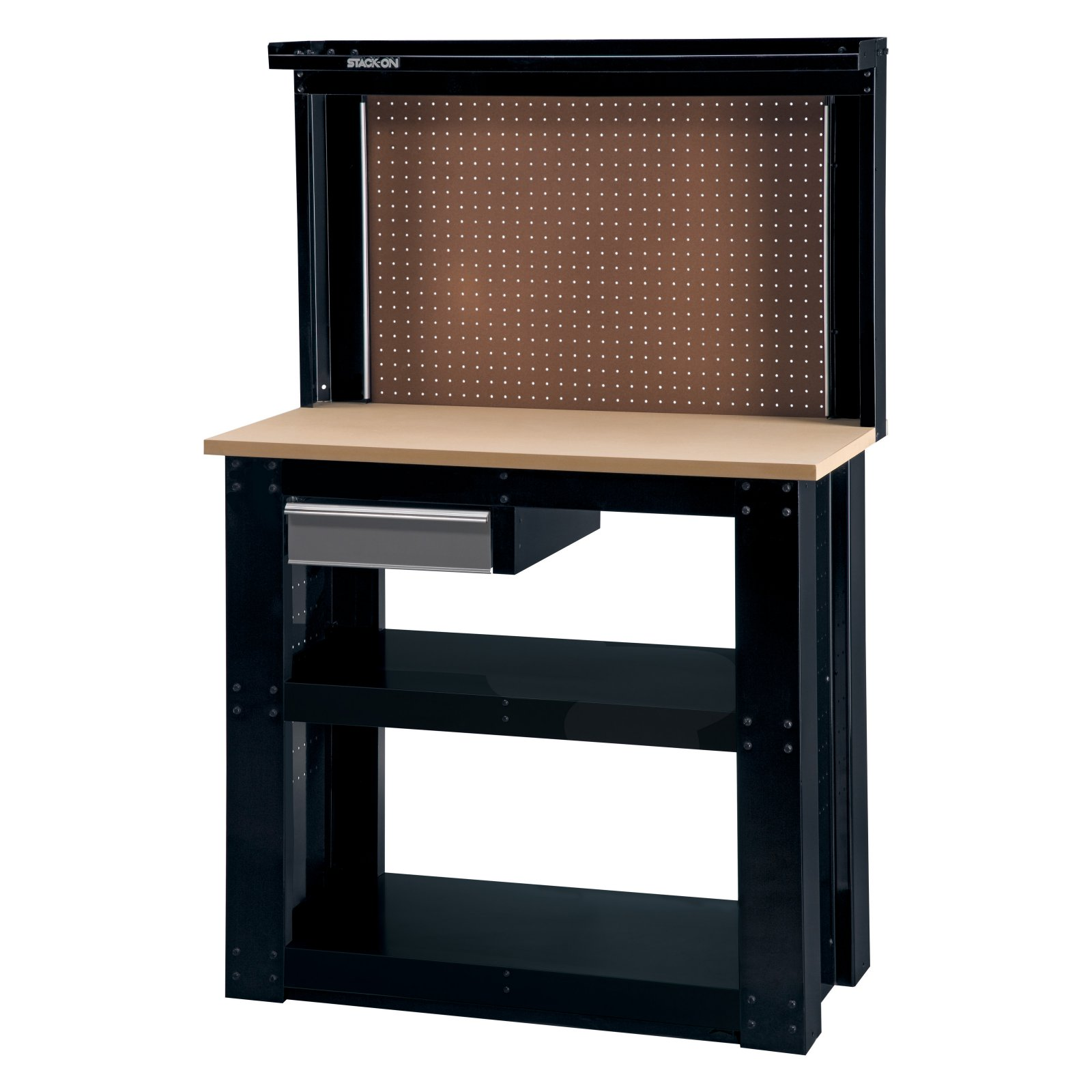 Stack-On 40-in. Steel Reloading Workbench with Back Wall