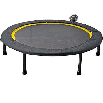 Gold's Gym Portable Circuit Trainer Trampoline Ideal for Cardio Workouts - includes monitor for tracking calories burned, time and jump (Best Cardio Circuit Workout)