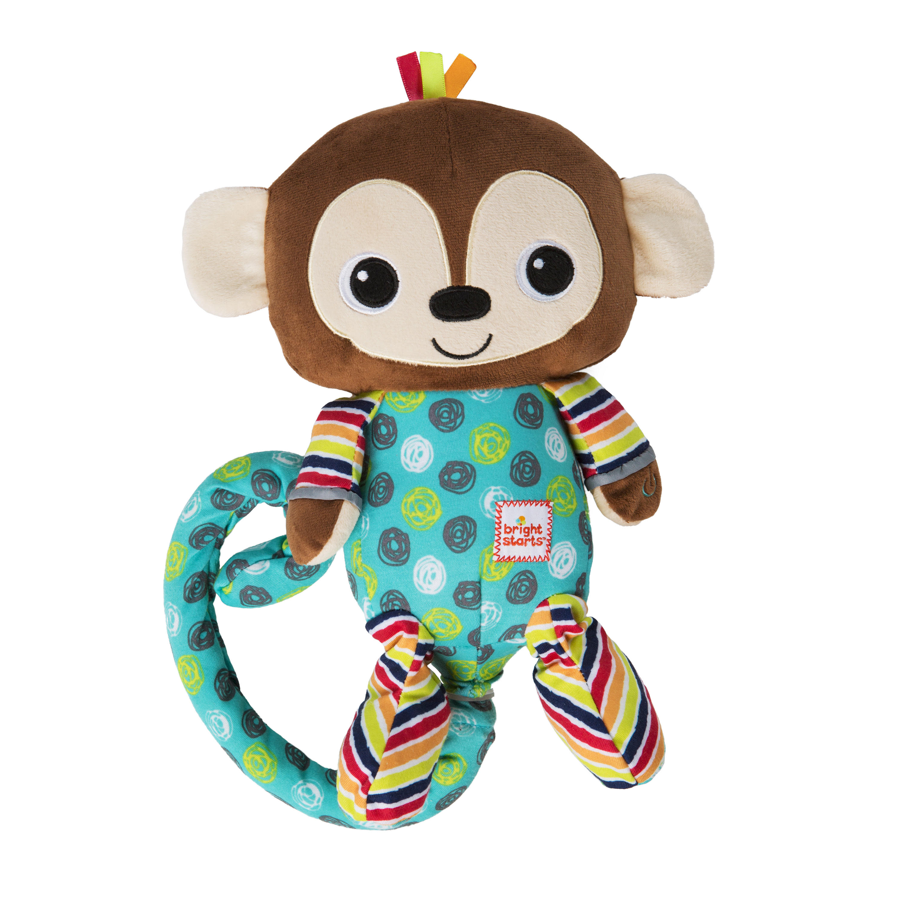 Monkey Plush Stuffed Animal Baby Gift Green Monkey Cute Shower Party Supply