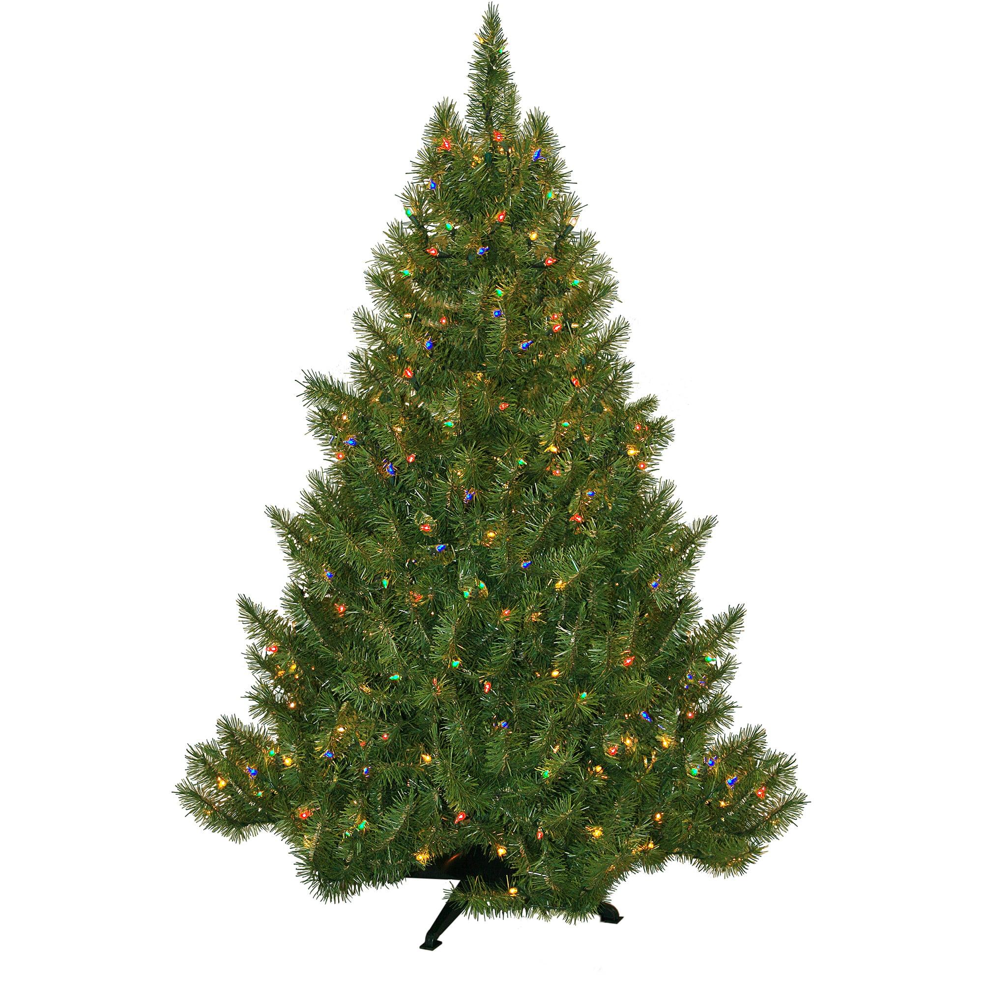 Pre-Lit 4.5' Vermont Fir Artificial Christmas Tree, 250 Multi Lights