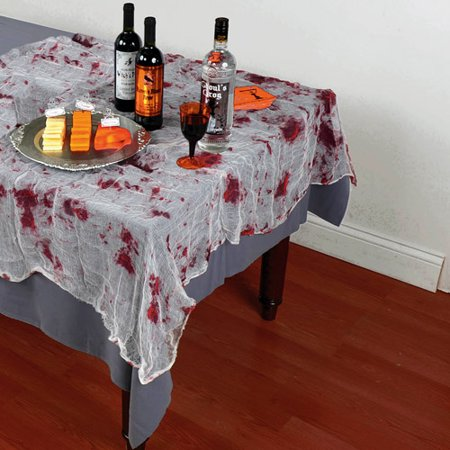 Halloween Bloody Gauze Table Cover - Bloody Makeup For Halloween