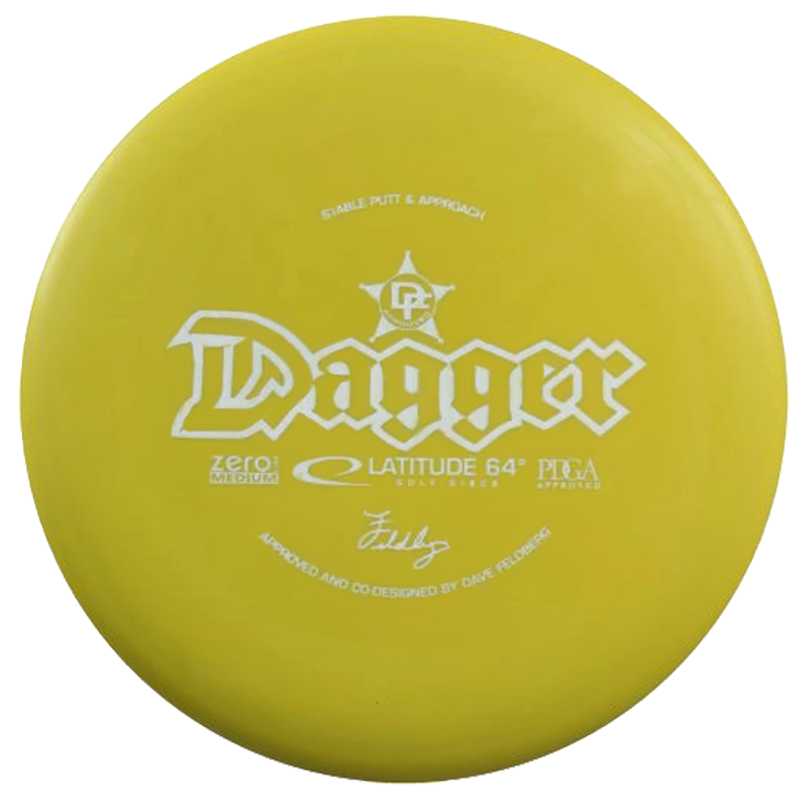 Latitude 64 Zero Medium Dagger 170-172g Putter Golf Disc [Colors may vary] - 170-172g