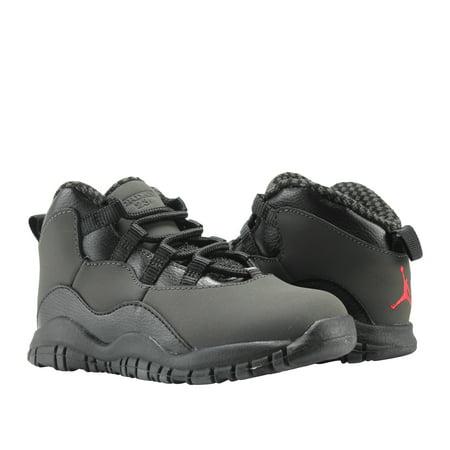 73660bc008 Jordan - Nike Air Jordan 10 Retro BT Dark Shadow Toddler Basketball Shoes  310808-002 - Walmart.com