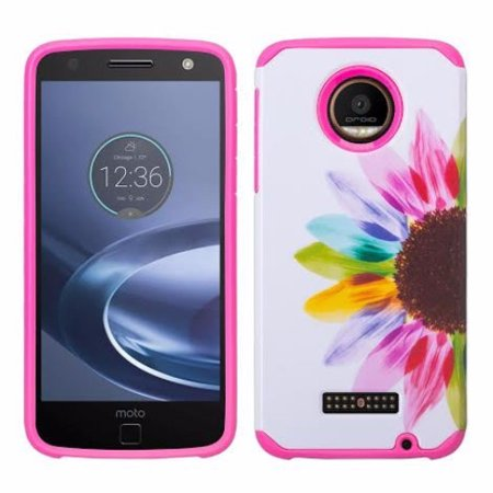 official photos 92186 3892c Moto Z Play Droid Case, Slim Hybrid Dual Layer Shock Resistant Case for  Motorola Moto Z Play Droid - Vivid Sunflower