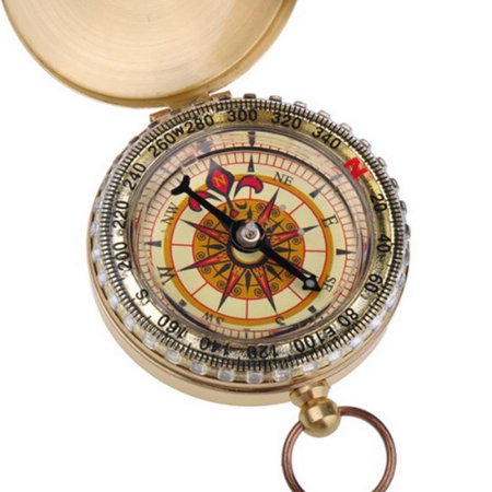 Classic Pocket Compass Outdoor Luminous Compass Antique Hiking Hunting Camping Survival Gear Metal Compass Tool