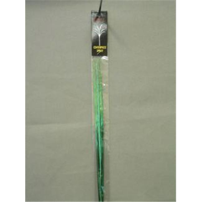 Party Deco 06006-H 21 in. Green Plain Sprays Bagged - Pack of 12