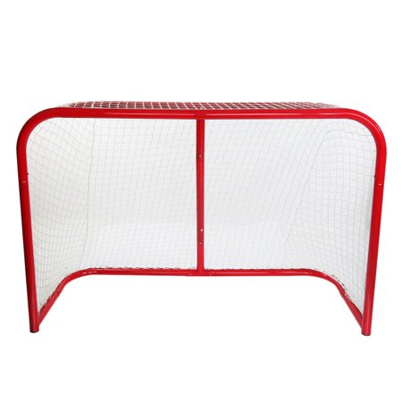 ZEDWELL Professional Ice Hockey Goal – Full Size 72 inch Ice Hockey Goal with 5mm Net and 2 inch Galvanized Steel Frame ()