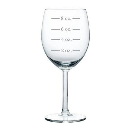 Wine Glass Goblet Measuring Cup Ounces (10 oz)