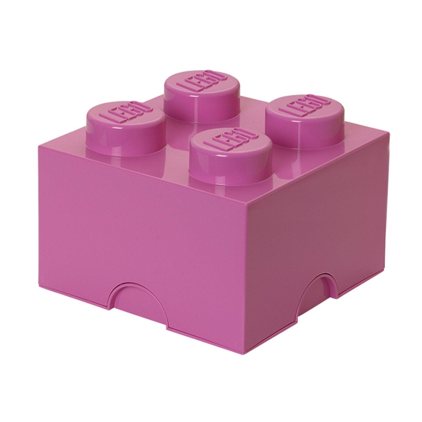 Lego 4 Trans Dark Purple 1x1 brick block NEW