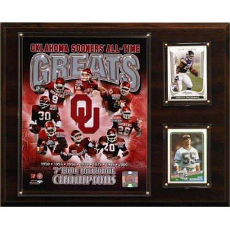 C & I Collectables 1215SOONERGREAT NCAA Football 12 x 15 Oklahoma Sooners Plaque Photo Greats de tous les temps - image 1 de 1