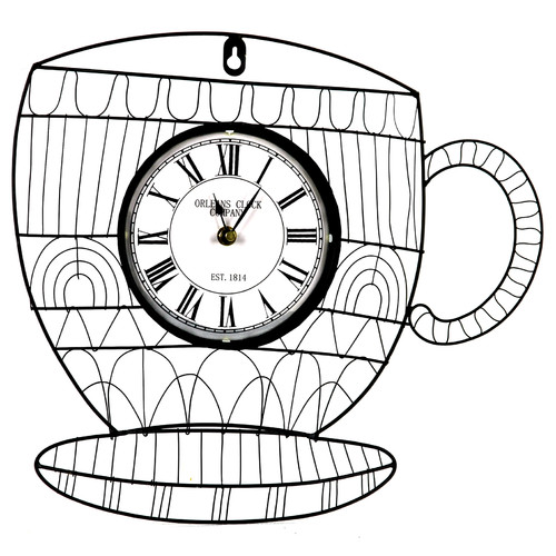 METAL WALL CLOCK CUP