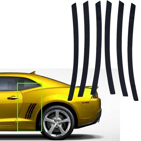 Xotic Tech For Chevy Camaro L&R Side Vent Insert Black Stripe Decal Inlay Sticker 2011 - 2015 (Graphics Stripes Decals)