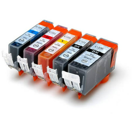 Universal Inkjet Compatible Multipack for Canon CLI-221/PGI-220, 5-Pack