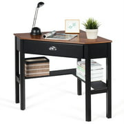 Costway Corner Computer Desk Laptop Writing Table Wood Workstation Home Office Furniture Coffee