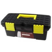 Uxcell a13031800ux0065 PP Plastic Tray Compartment Tool Storage Box Case, Black/Yellow