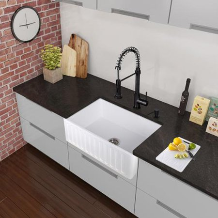 Vigo Edison Matte Black Pull-Down Spray Kitchen Faucet - Walmart.com