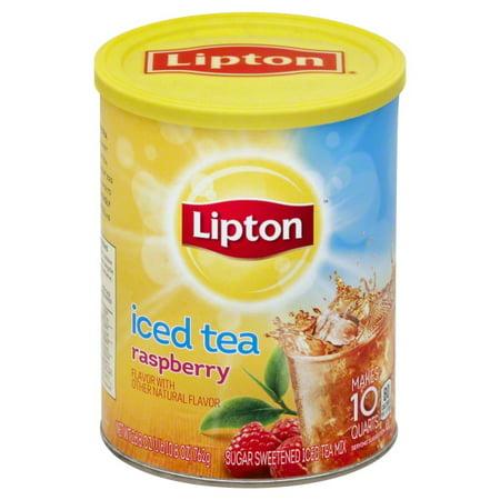 (12 Boxes) Lipton Raspberry Iced Tea Mix 10 qt