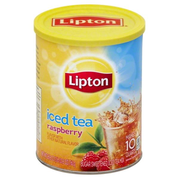 (6 Boxes) Lipton Raspberry Iced Tea Mix 10 qt