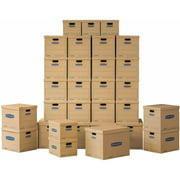 Bankers Box SmoothMove Classic Moving Boxes Value Kit (30pk) 20 Medium, 5 Small and 5 Large (No Tape Required)