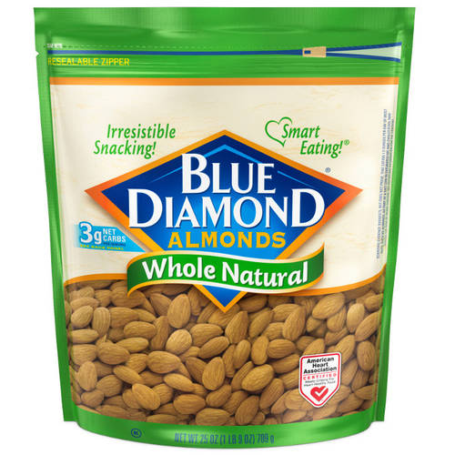 Blue Diamond Whole Natural Almonds, 25 oz