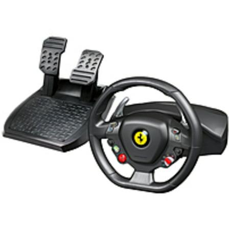 Refurbished Thrustmaster Ferrari 458 Italia Gaming Steering Wheel - Cable - USB - Xbox 360, PC - 9.84 ft