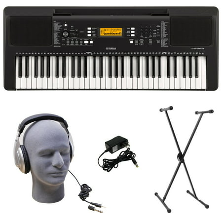Yamaha PSR-E363 PKS 61-Key Premium Keyboard Pack with Stand, Headphones & Power