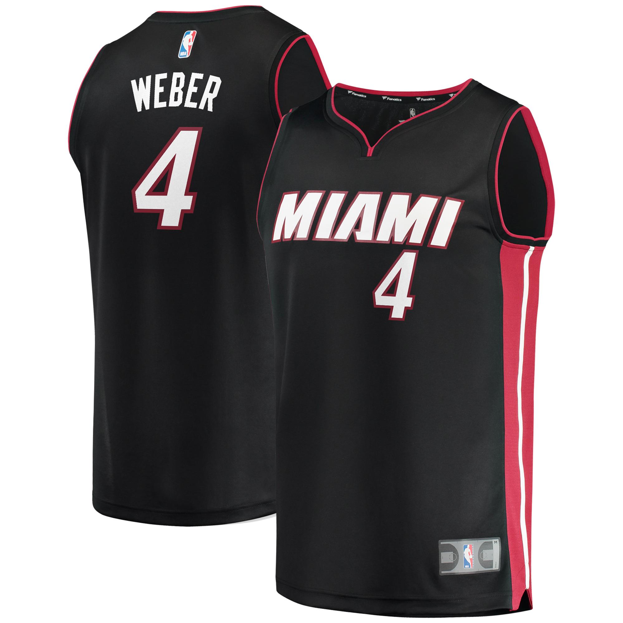 Briante Weber Miami Heat Fanatics Branded Fast Break Replica Jersey - Icon Edition - Black
