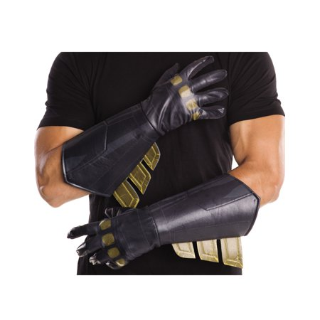 Batman Vs Superman: Dawn of Justice Men's Adult Batman Gauntlets  Halloween Costume Accessory (Costume Gauntlets)