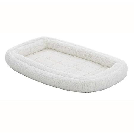 MidWest QuietTime Deluxe Fleece Double Bolster Bed, 42