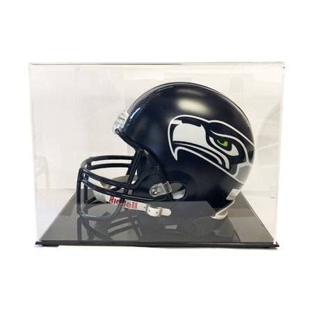 Football Helmet Display Case (Ultra Max High Clarity Pro Premium Full Size Football Helmet Display Case - Max UV )