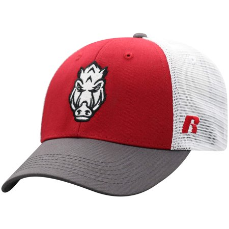 - Men's Russell Cardinal/White Arkansas Razorbacks Steadfast Snapback Adjustable Hat - OSFA