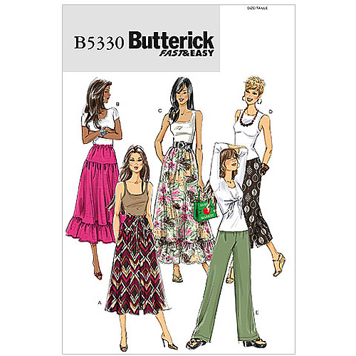 Butterick Pattern Misses' Skirt and Pants, BB (8, 10, 12, 14)