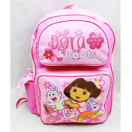 Backpack - Dora the Explorer - Boots Pink (Large School Bag) New 81612 (Explorer Board Bag)