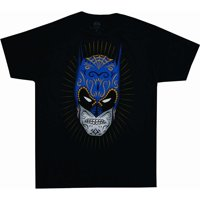 Batman Sugar Skull Men's Black Tee Shirt-Small