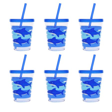 Mainstays Kids Melamine Shark Tumblers, Set of - The Simpsons Halloween Tumblr