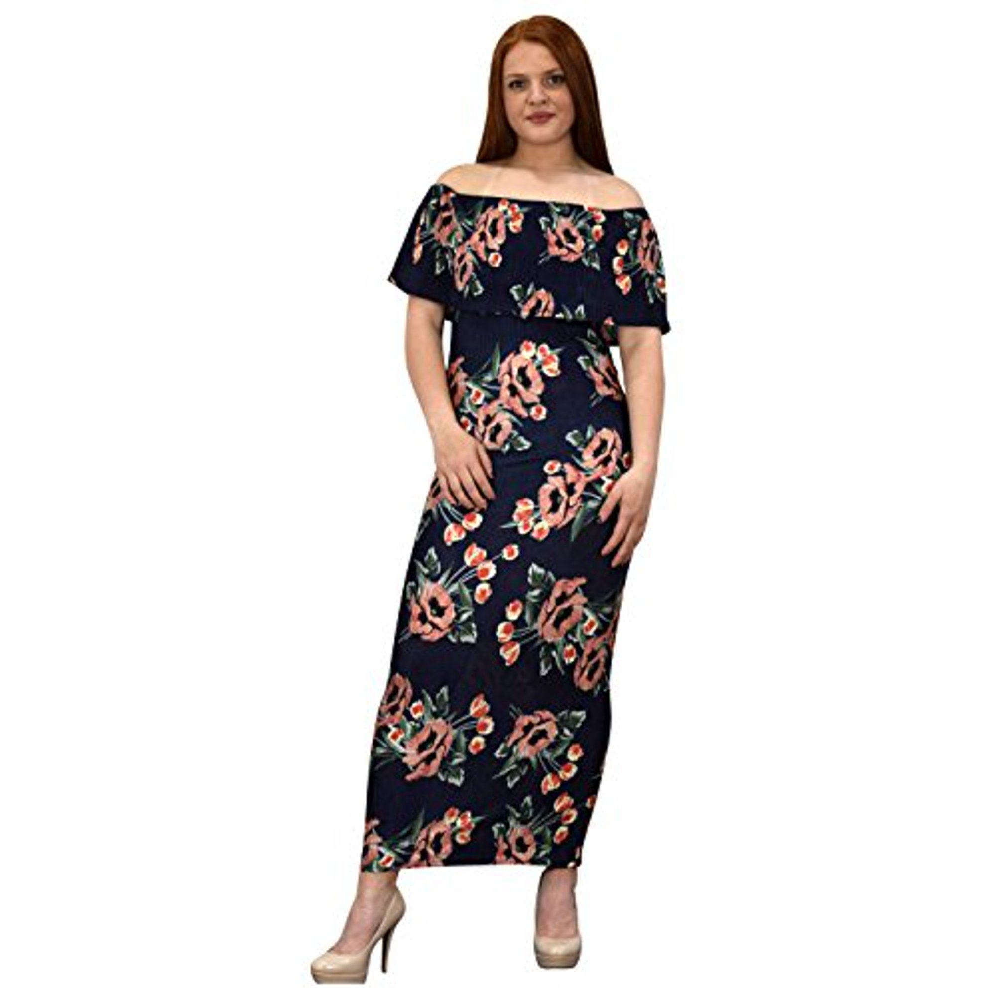 dd57213368 Peach Couture Womens Summer Gypsy Bohemian Vintage Floral Long Maxi ...