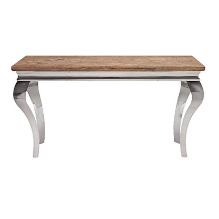 Splendid Bailey Stainless And Wood Console Table