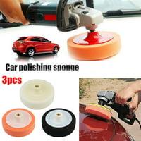 3Pcs Car Waxing Buffing Pads Compound Auto Polisher
