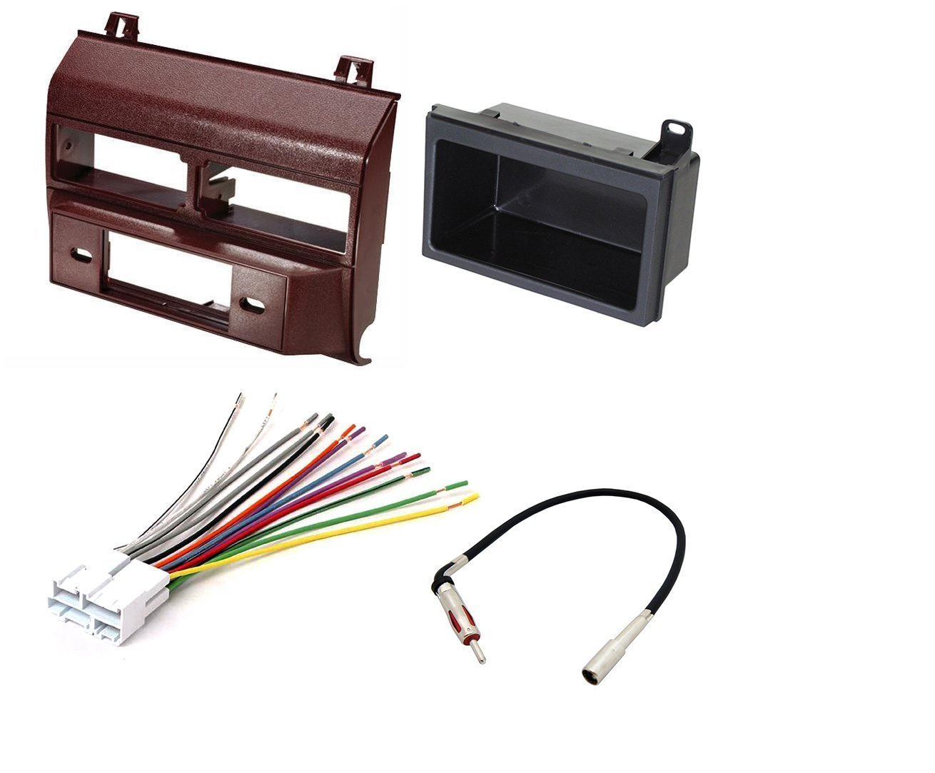 car stereo radio dash installation mounting kit add on storage rh walmart com Wire Harness Manufacturing Storage Wire Baskets for Storage