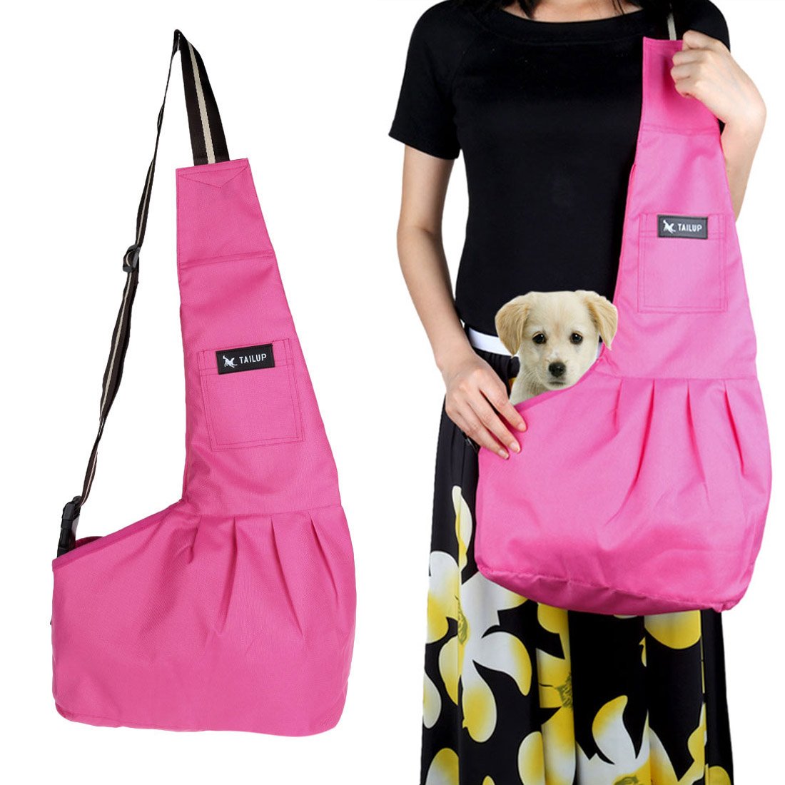 Small Pet Dog Cat Carrier Backpack Outdoor Puppy Tote Soft Shoulder Bag