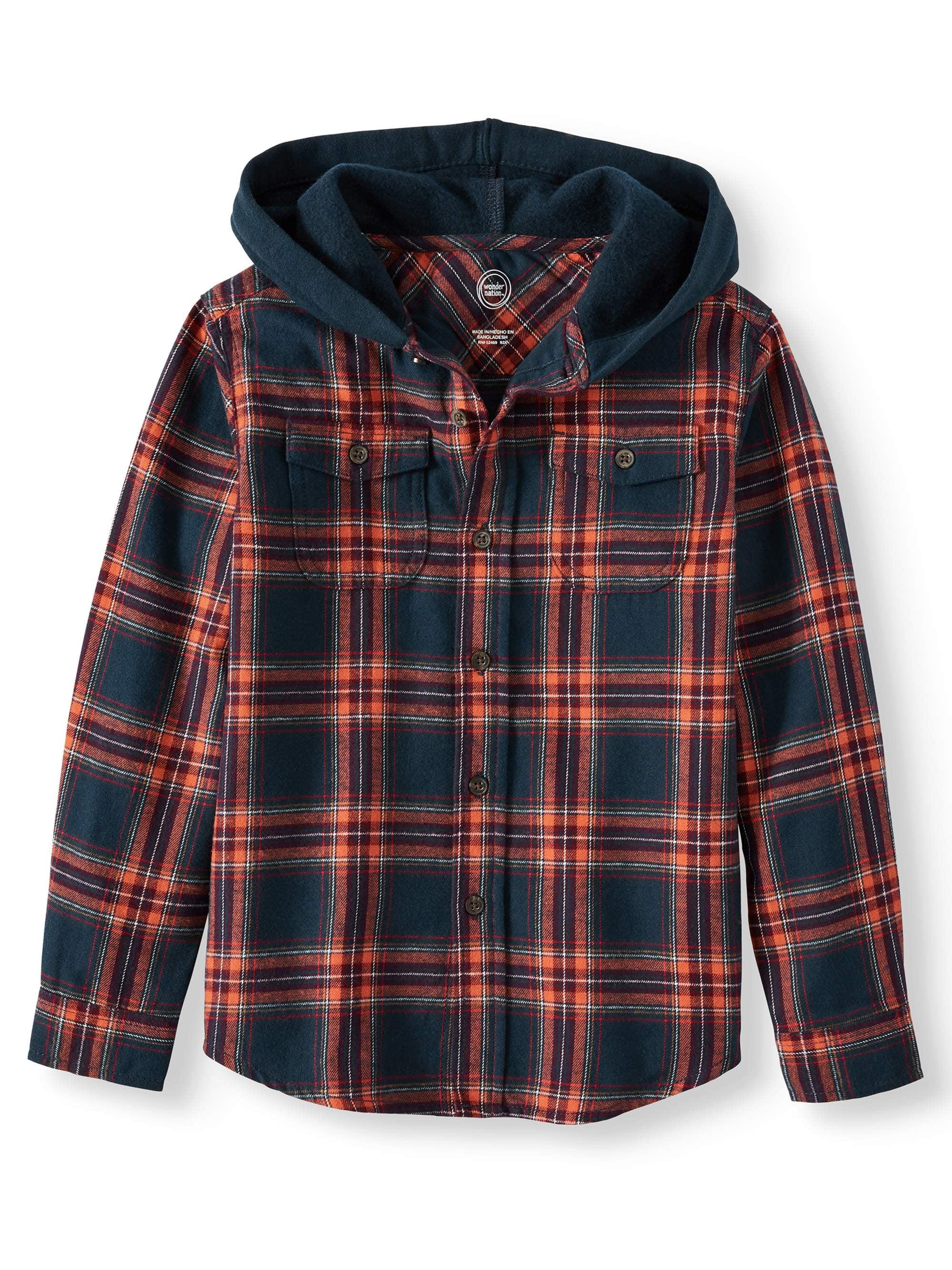 NEW Art Class Boys/' Long Sleeve Hooded Rocker T-Shirt Blue Small 6//7