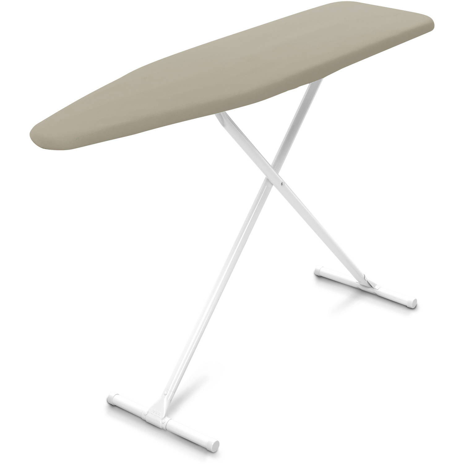 Homz T Leg Ironing Board with Cover, Taupe