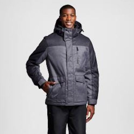 R-WAY Men's Snowboard Ski Jacket Coat w/ Beanie ZEROXPOSUR - Iron Grey - (Ski Snowboard Apparel)