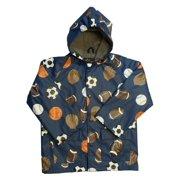 Boys Navy Sports Balls Rain Coat 8