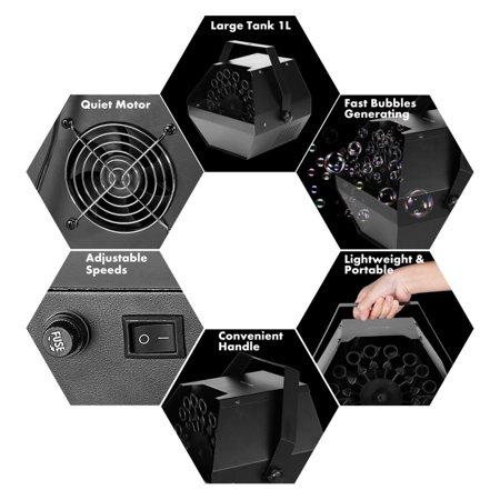 Mini Bubble Machine Professional Automatic Bubble Maker Outdoor Or Indoor Use - image 8 de 8